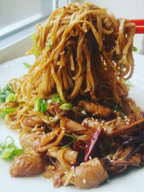 Sichuan Squid Noodles